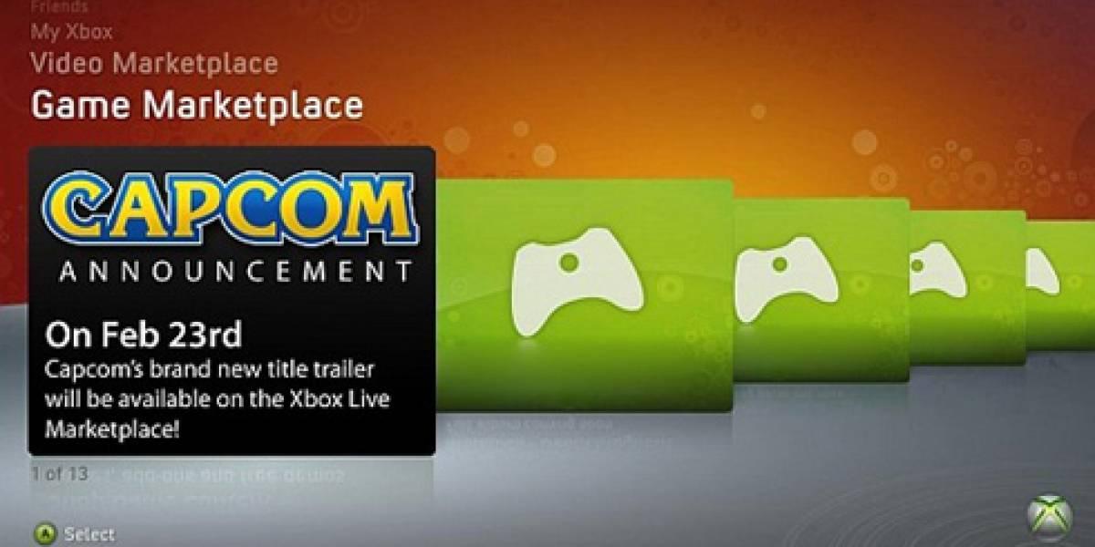 Capcom anunciará nuevo juego a través de Xbox LIVE el próximo Lunes