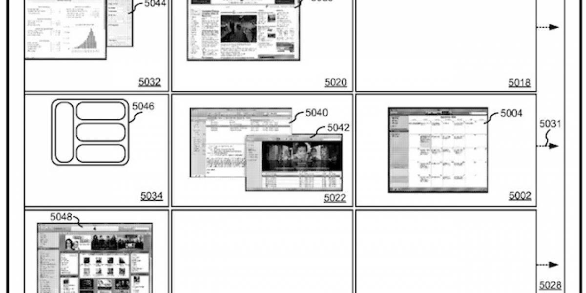 """Apple patenta sistema al estilo """"Spaces"""" para manejar la multitarea en el iPad"""