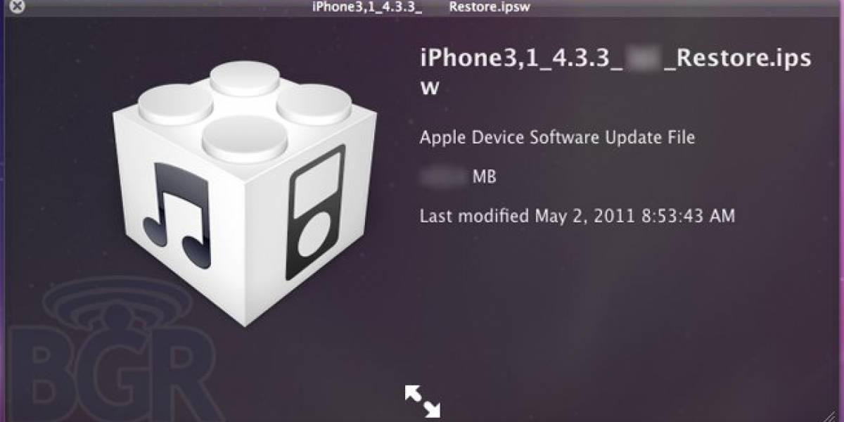 Apple arreglará error de rastreo en iOS 4.3.3