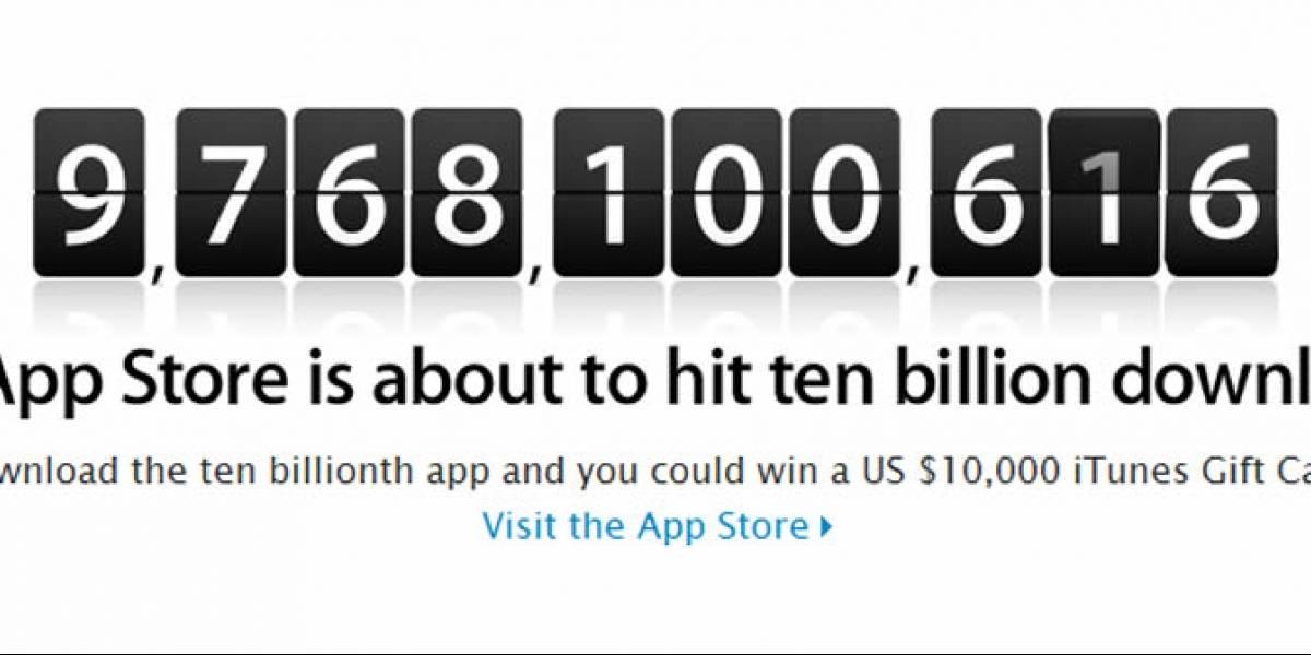 La App Store (de Apple) está a punto de alcanzar los 10.000 millones de descargas