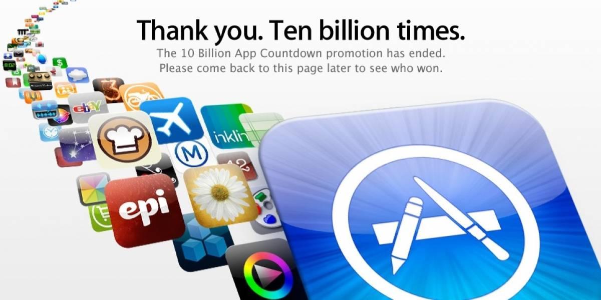 App Store de Apple alcanza finalmente las 10.000 millones de descargas