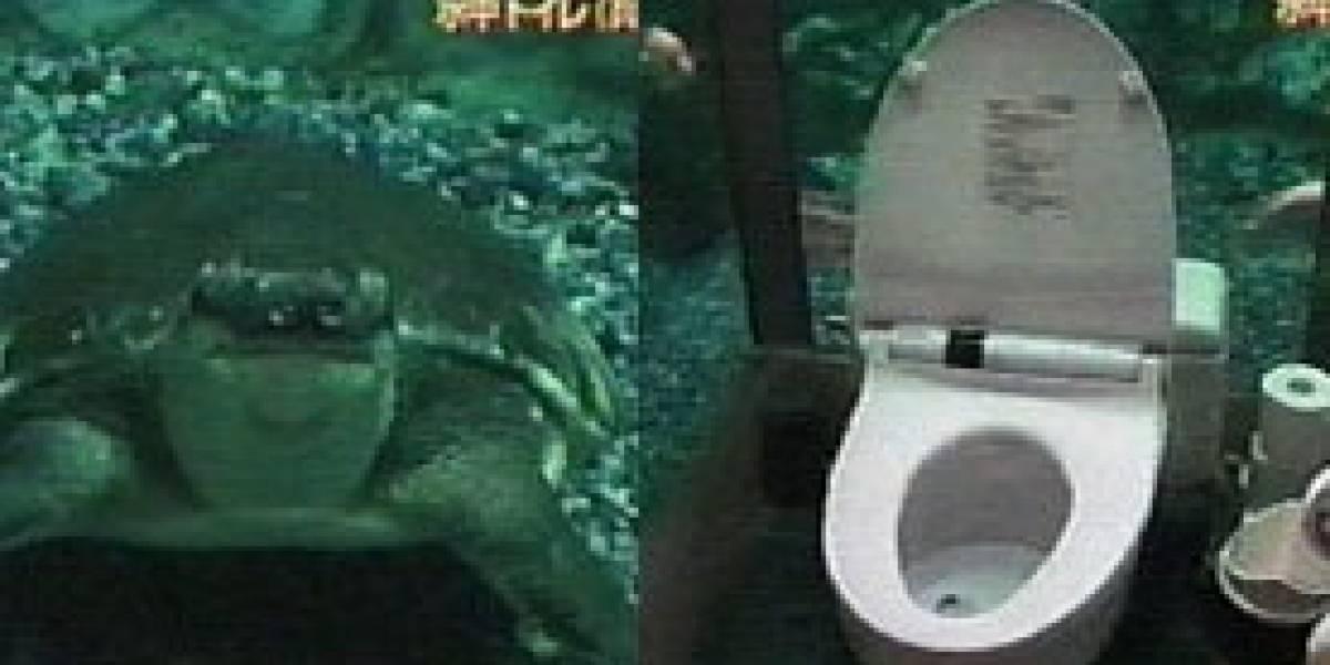 Acuario en el baño (o baño en el acuario)