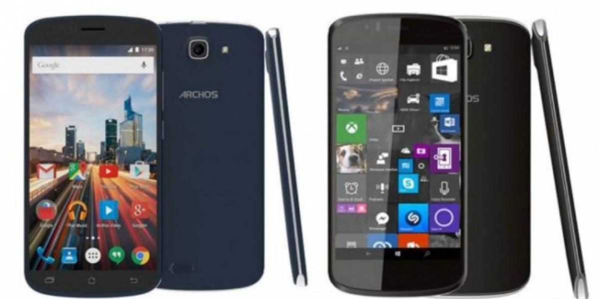 Archos anuncia tres nuevos teléfonos con Android y Windows 10 Mobile