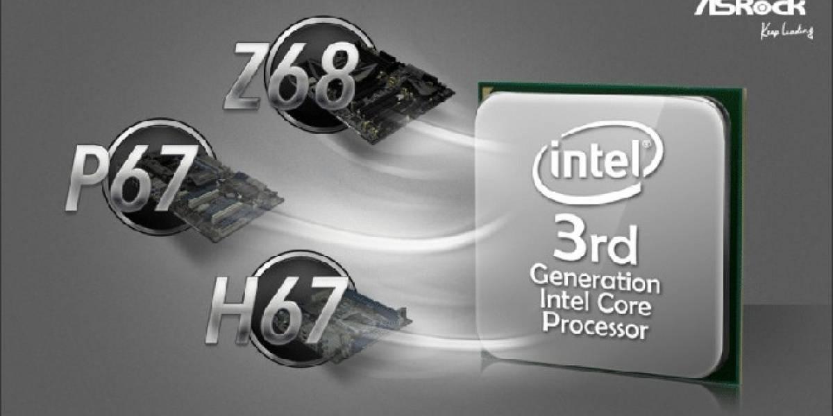 ASRock promete total compatibilidad con Ivy Bridge-DT para sus tarjetas Z68/P67/H67
