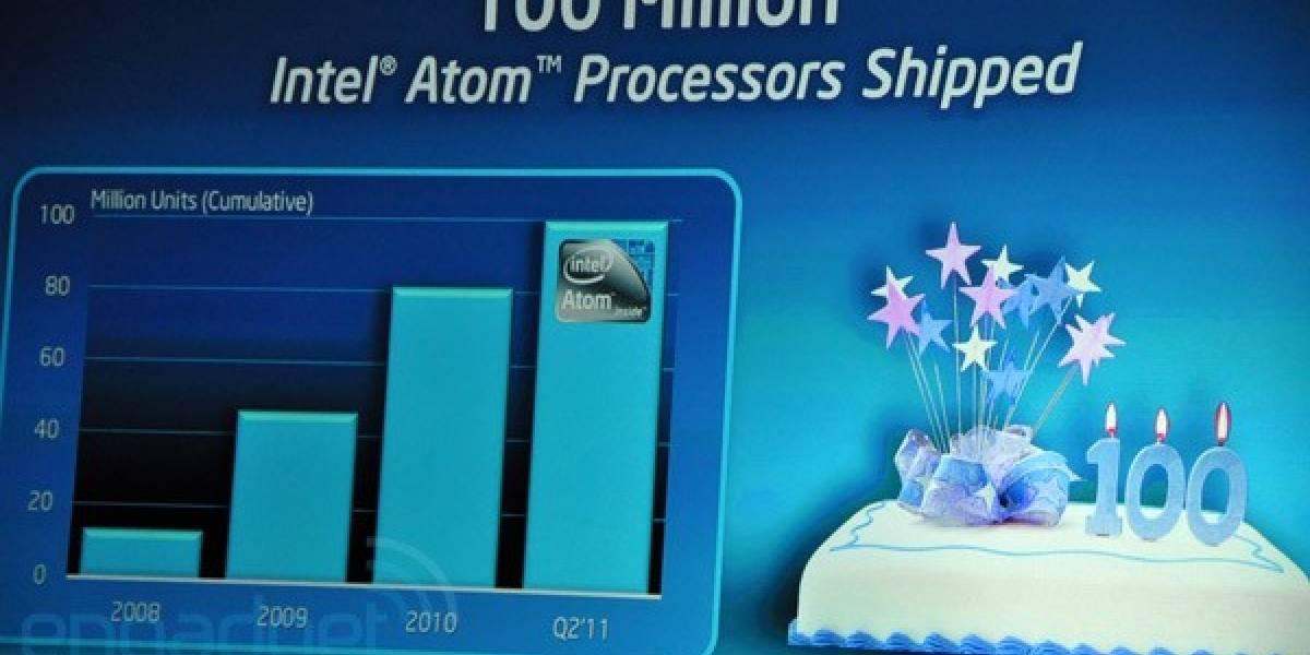 Intel celebra 3 años del Atom con 100 millones de CPUs enviadas