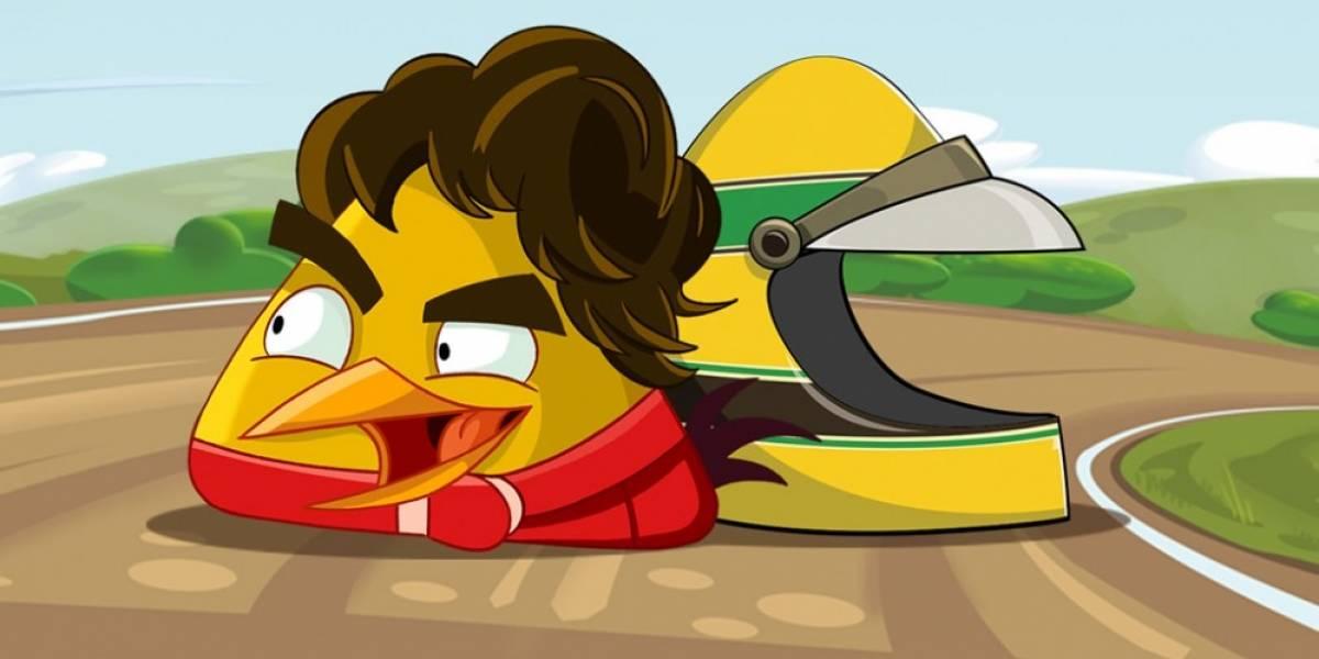 Ya puedes jugar como Ayrton Senna en Angry Birds Go!