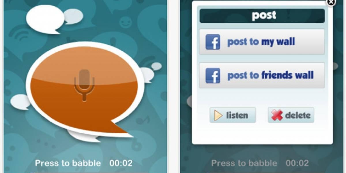 BabbleOn comparte mensajes de voz en Facebook