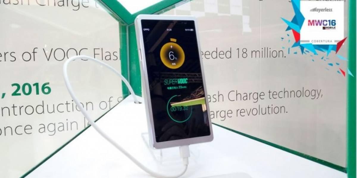 Oppo presentó tecnología capaz de cargar tu celular en 15 minutos #MWC