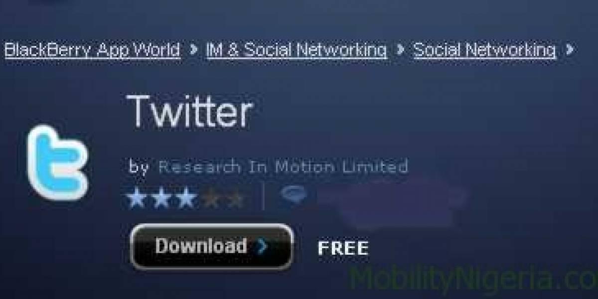 Twitter se actualiza para BlackBerry