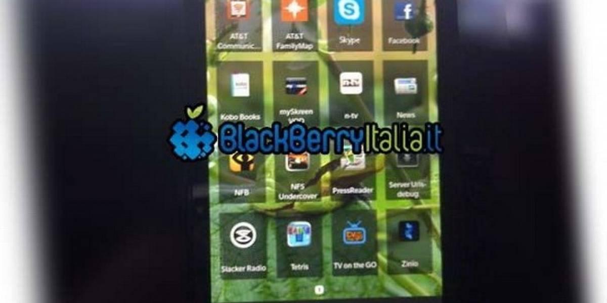 Fotografía filtrada muestra lo que podría ser BlackBerry OS 10