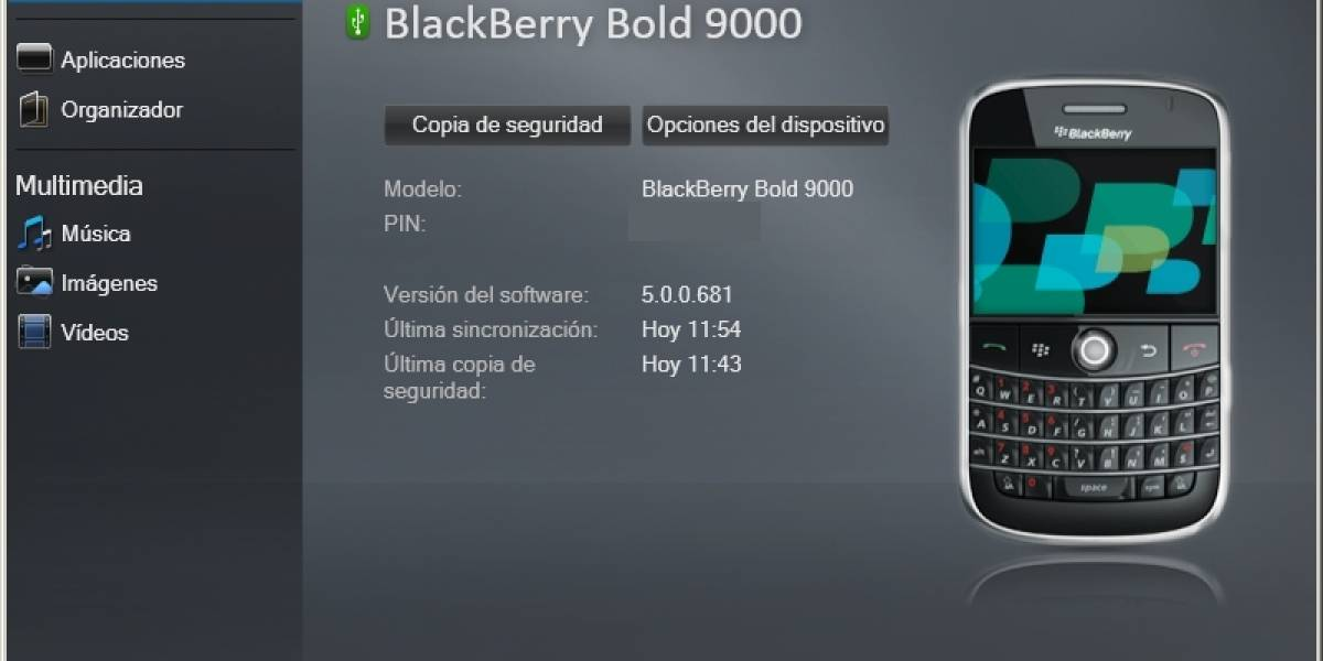BlackBerry Desktop Manager 6.0 oficial disponible para descarga
