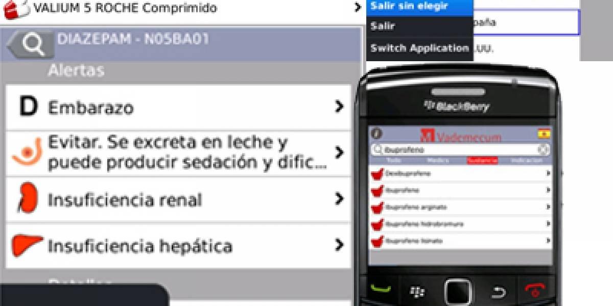 Convierte tu Blackberry en una guía farmacológica