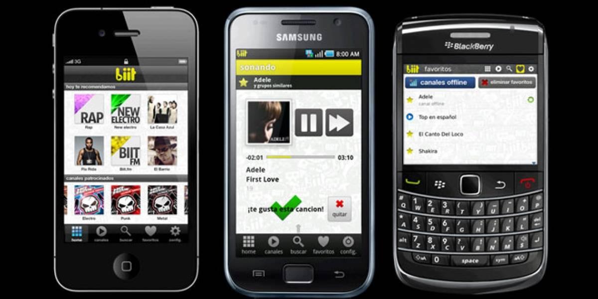 España: biit lanza sus versiones Android y Blackberry en exclusiva para usuarios de Tuenti
