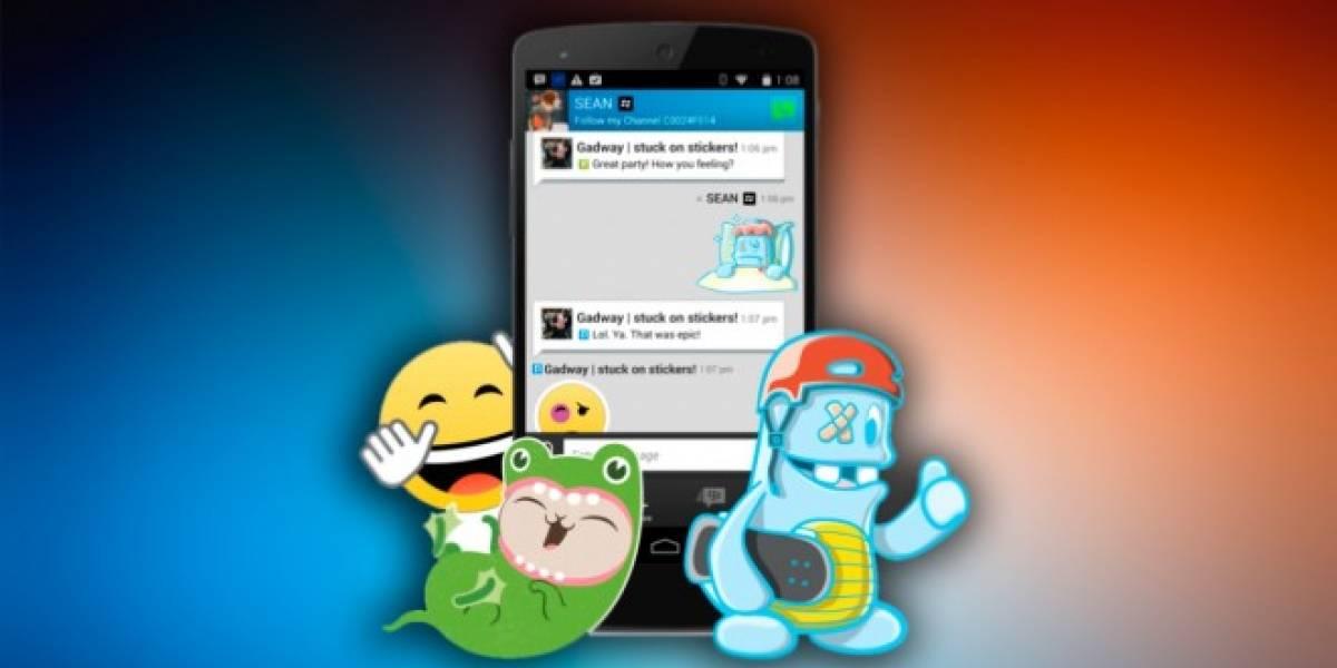 BlackBerry quiere entrar al negocio de los stickers con BBM
