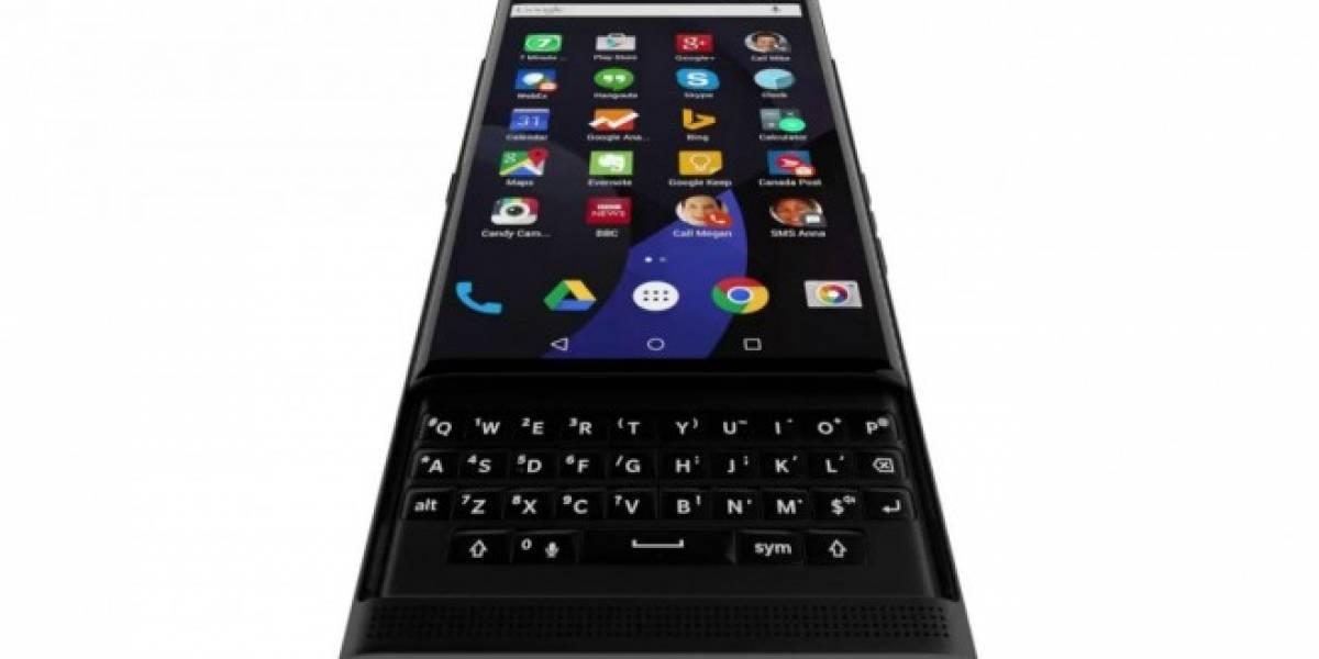 Un GIF muestra el aspecto del BlackBerry Venice con sistema operativo Android