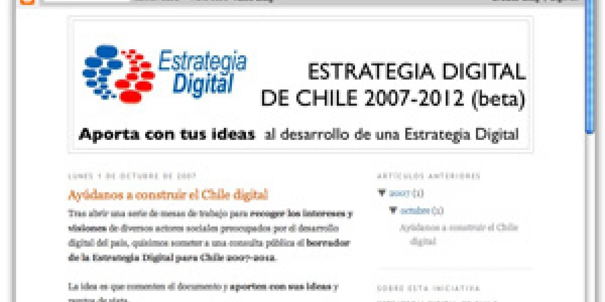 Aporta a la Estrategia Digital de Chile (en Blogger)