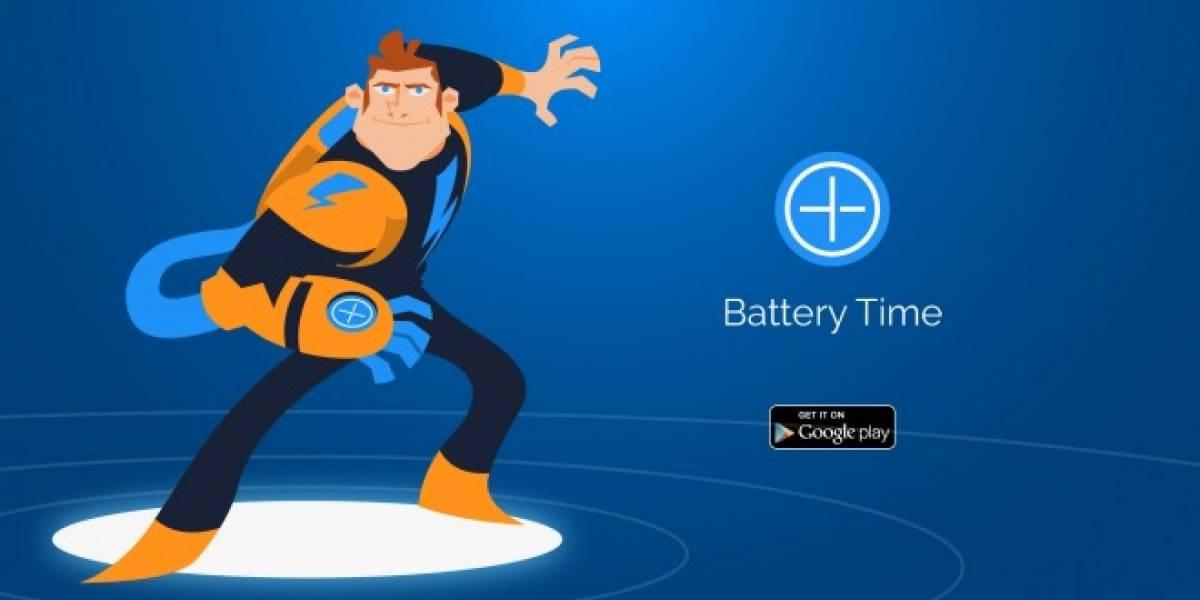 Nunca más te quedes sin batería en tu celular con Battery Time