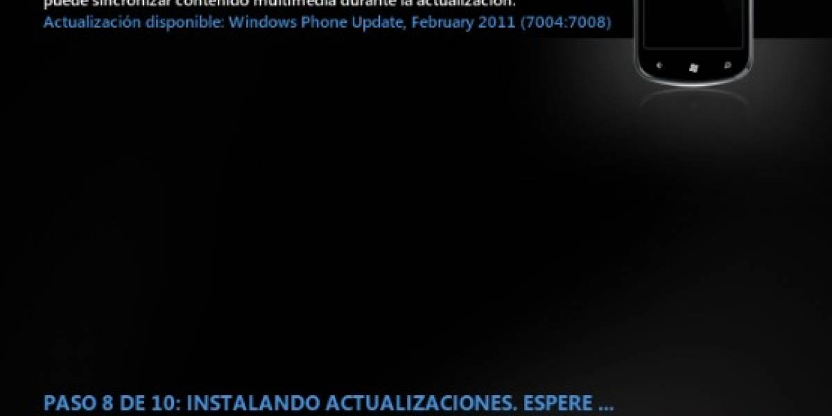 Disponible la primera actualización de Windows Phone 7