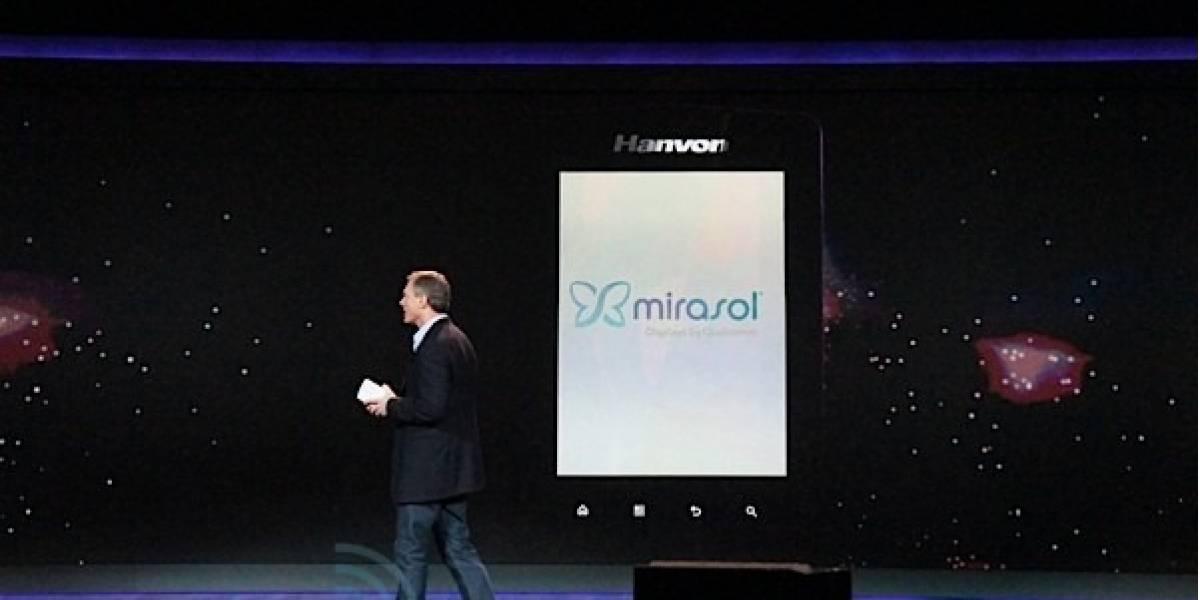 CES 2012: Hanvon y Qualcomm presentan nuevo e-reader con pantalla Mirasol