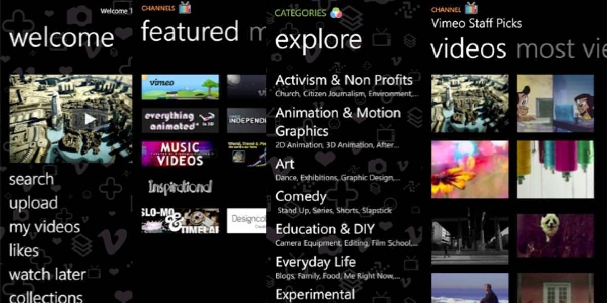 Windows Marketplace recibió oficialmente a Vimeo