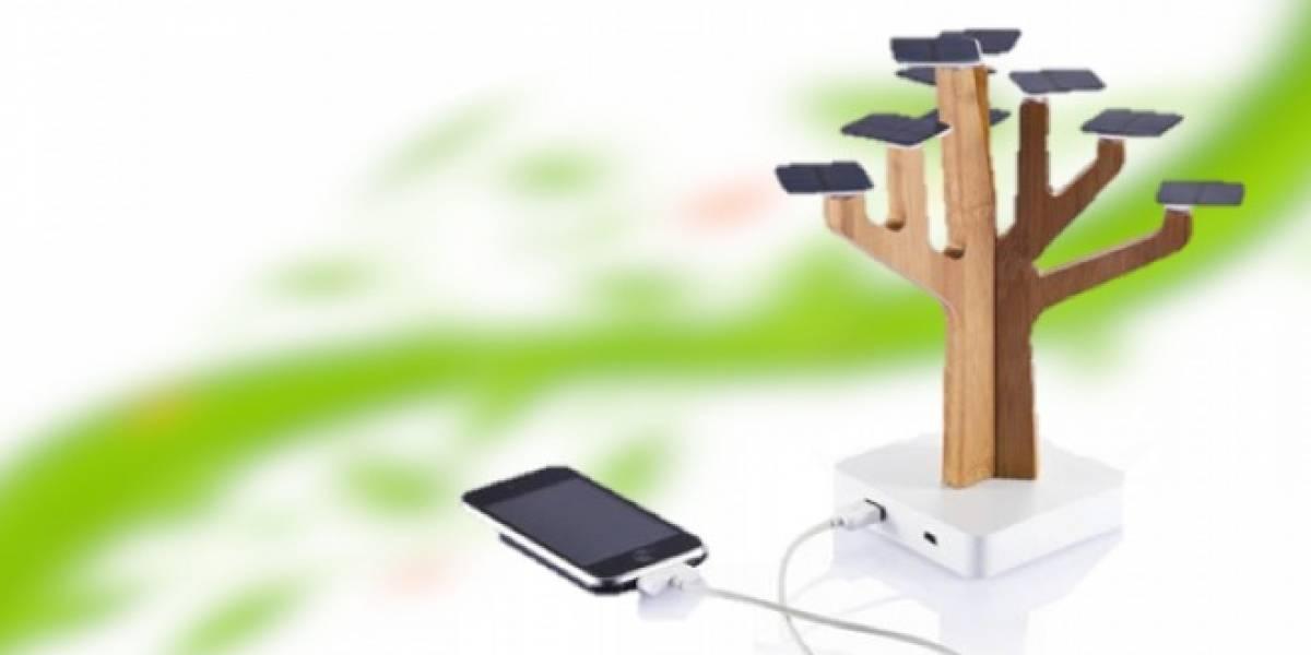 Carga tu móvil con un árbol de paneles solares