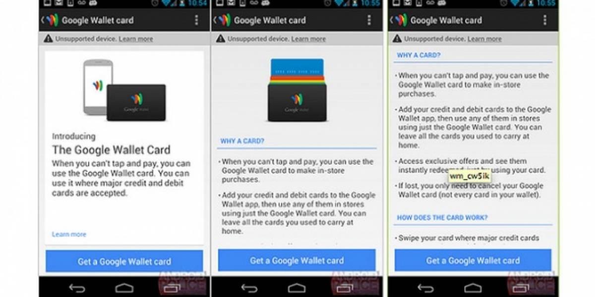Una tarjeta física complementaría a Google Wallet