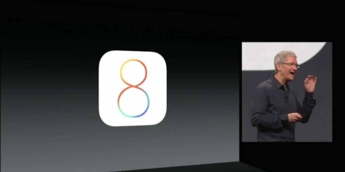 Apple presenta un renovado iOS 8 en #WWDC2014