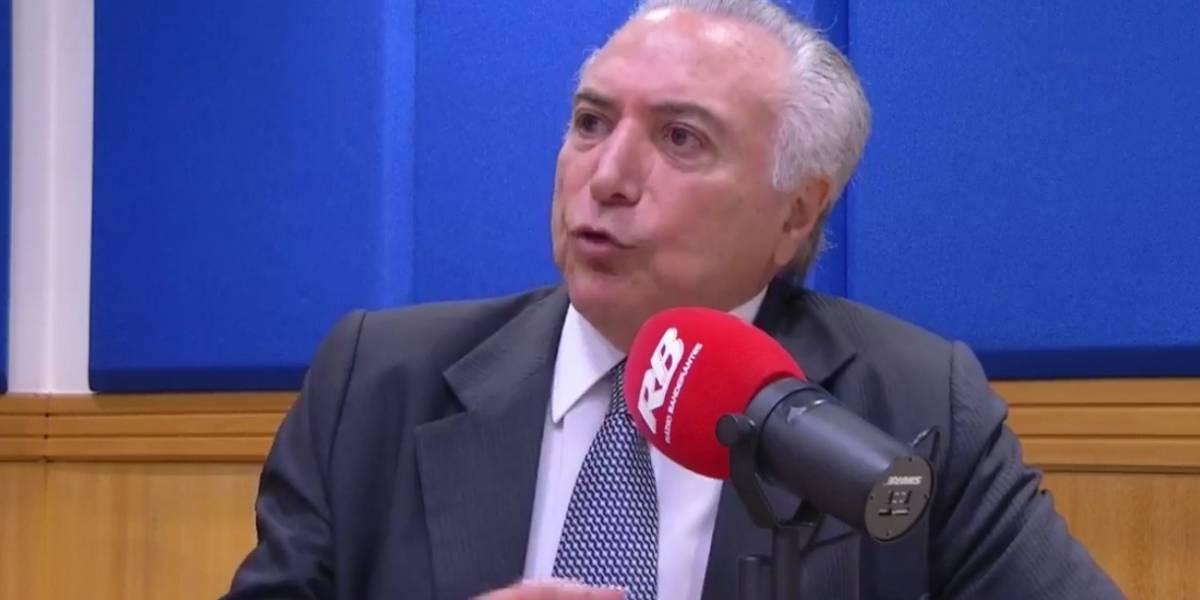 Temer sobre Lula: 'morto ele não está'
