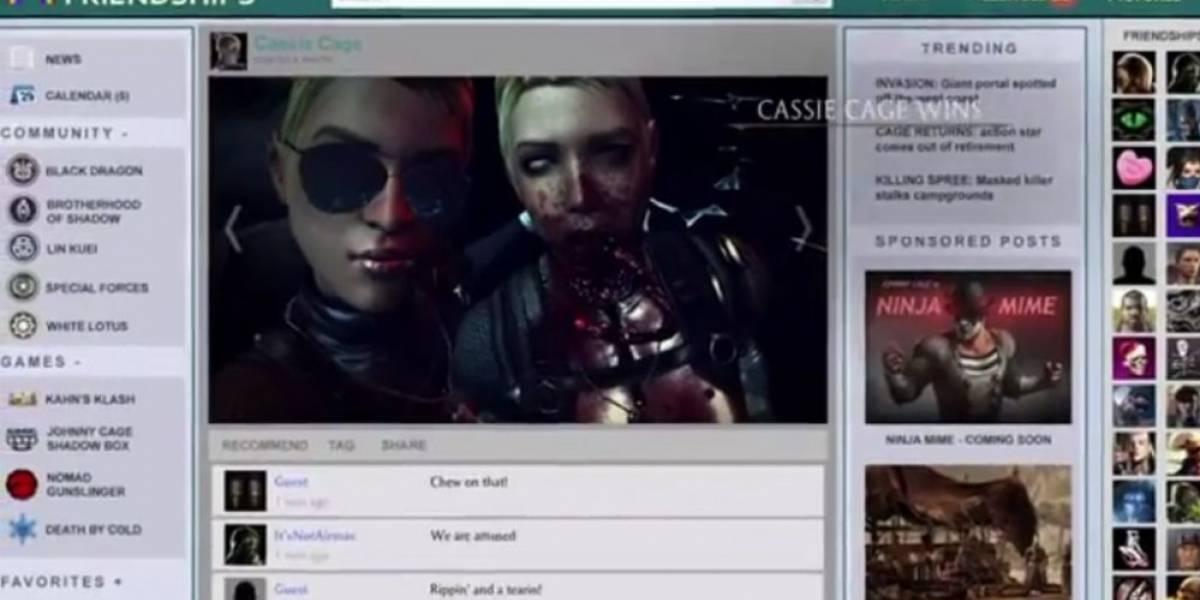 El fatality de Cassie Cage es una selfie