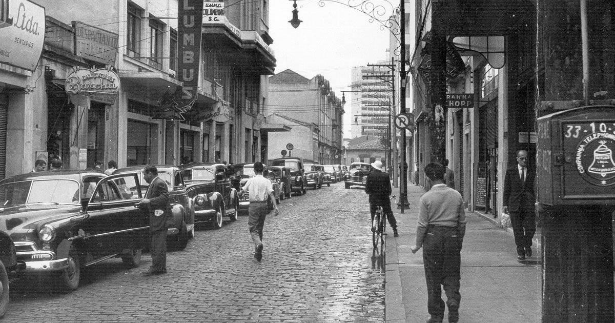 Centro de São Paulo na década de 1950