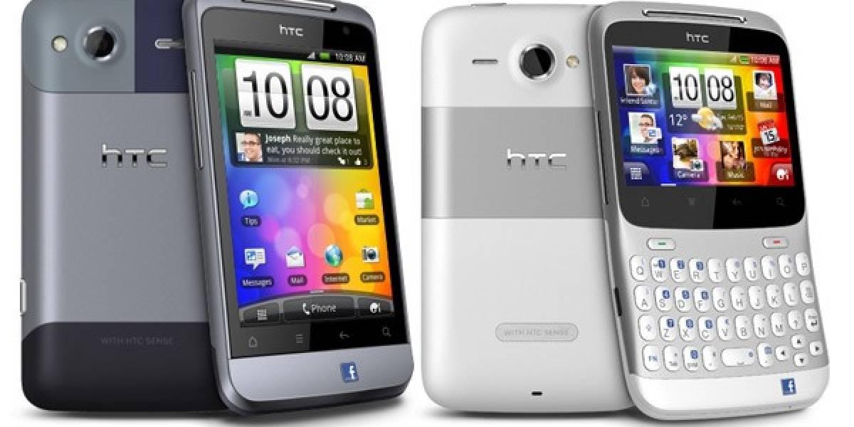 HTC presenta dos nuevos Facebook Phones: ChaCha y Salsa