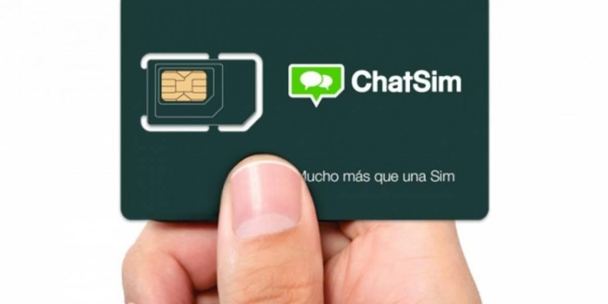Llega a Chile la nueva ChatSim para chatear gratis en cualquier país