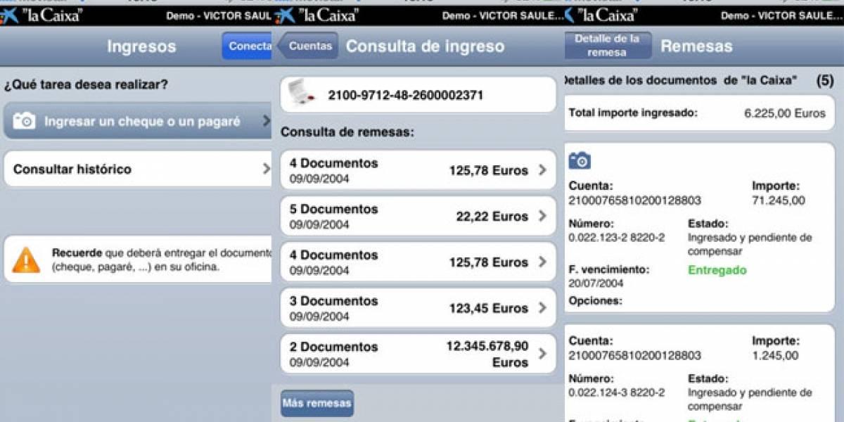 España: La Caixa lanza una aplicación para ingresar cheques con tu iOS