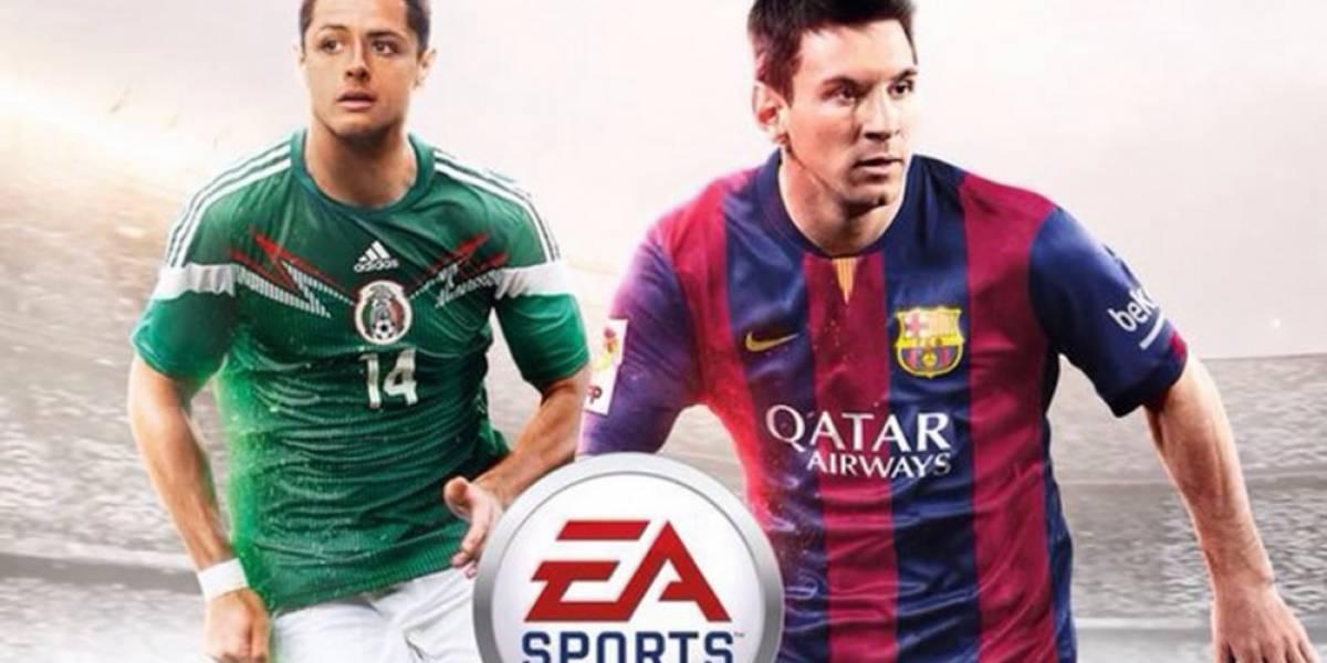 Chicharito aparecerá junto a Messi en portada de FIFA 15