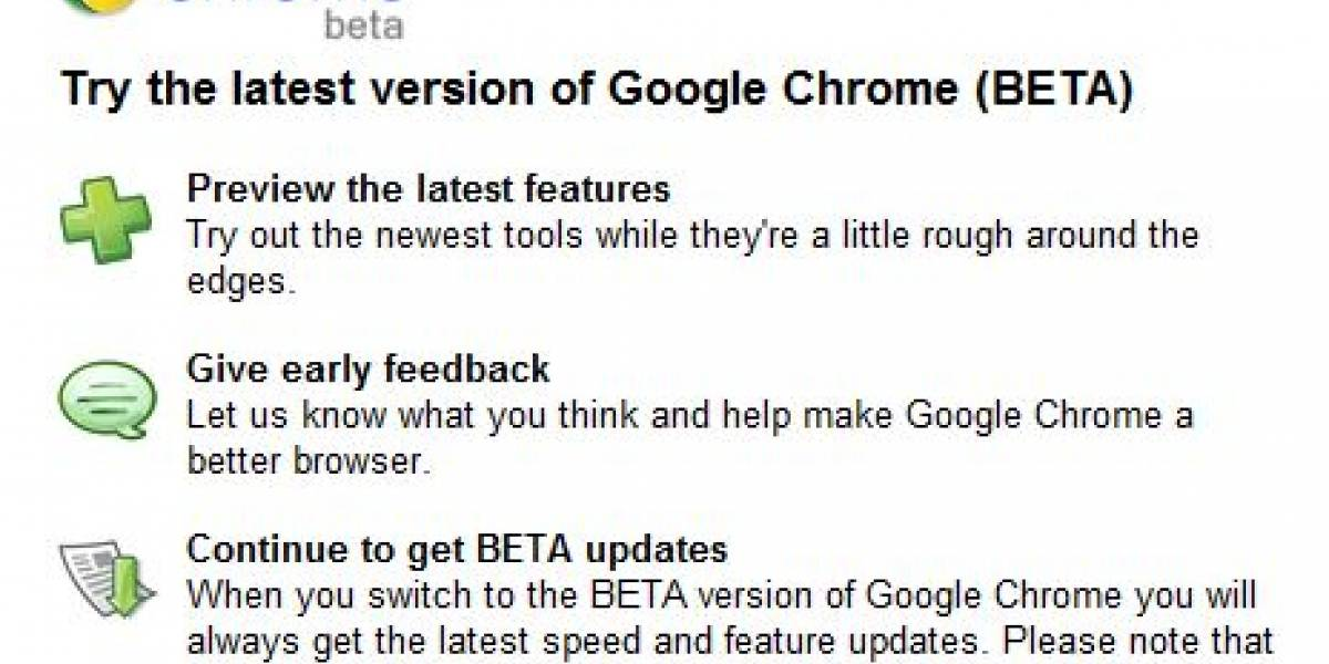 Ya disponible navegador Chrome 10 beta con importantes mejoras