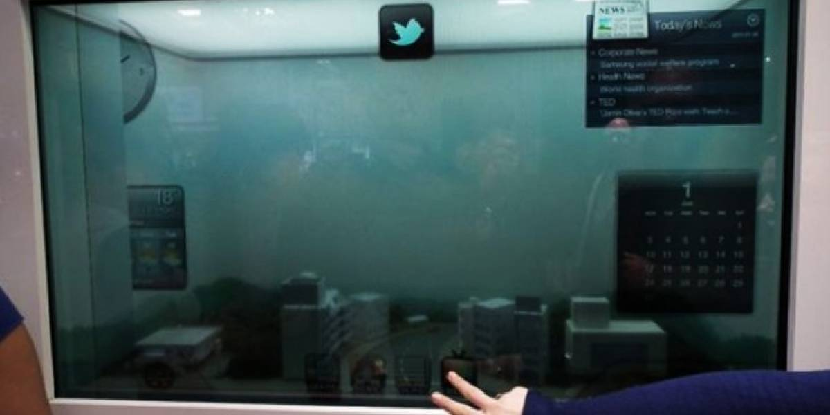 Samsung hará pantallas LCD transparentes... ¿Y las usará en móviles?