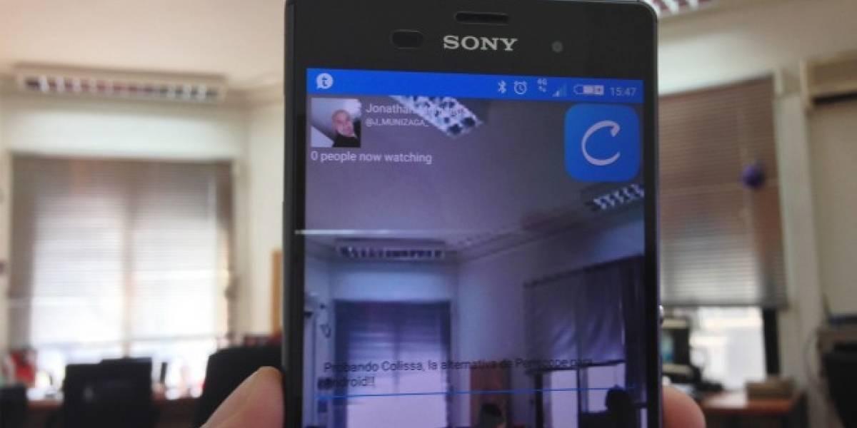 Colissa, la alternativa de Periscope para Android