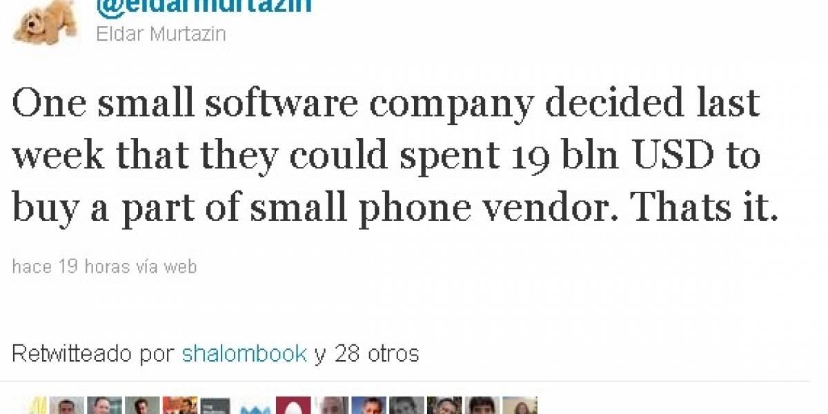 Futurología: Microsoft adquiriría Nokia por US$ 19 mil millones