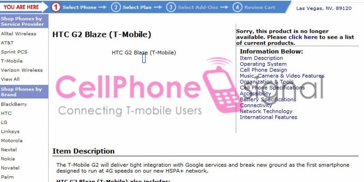 Futurología: Características oficiales del HTC G2 Blaze
