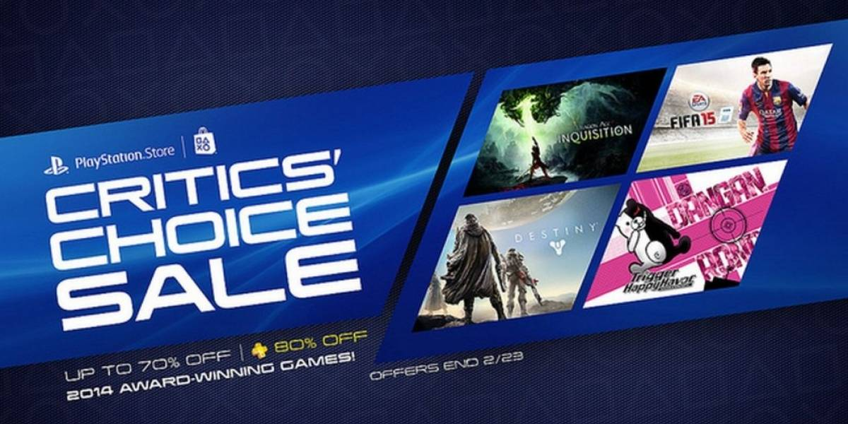Sony anuncia la venta especial Critics' Choice en PlayStation Store