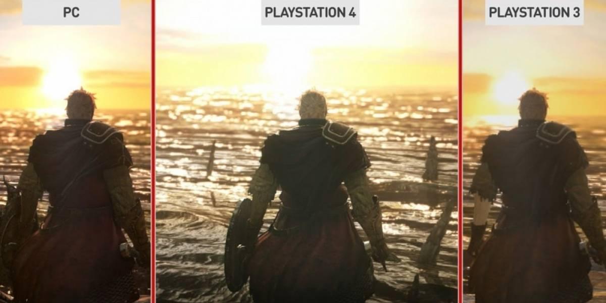 Vean una comparación entre las gráficas de Dark Souls II en PS4, PS3 y PC