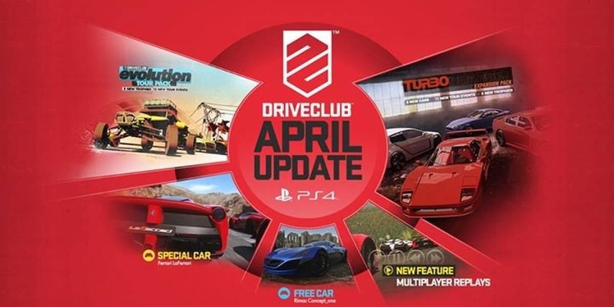 Esto se viene en la actualización de abril de DriveClub