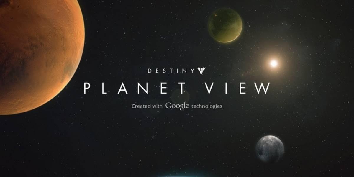 Explora los planetas de Destiny al estilo Google Street View