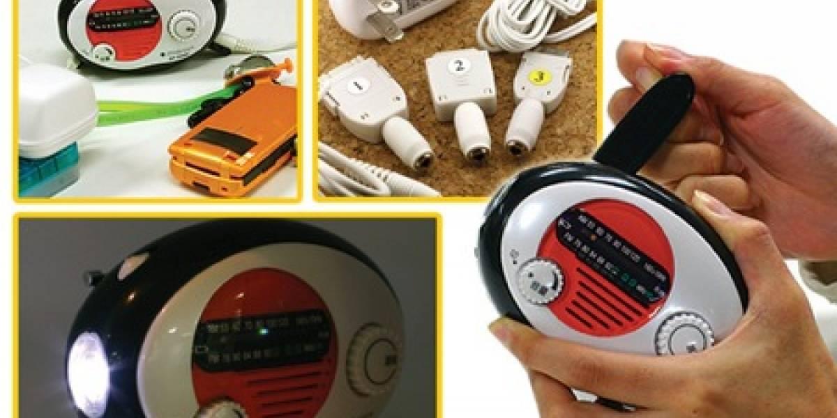 Radio, linterna, cargador... y detector de terremotos