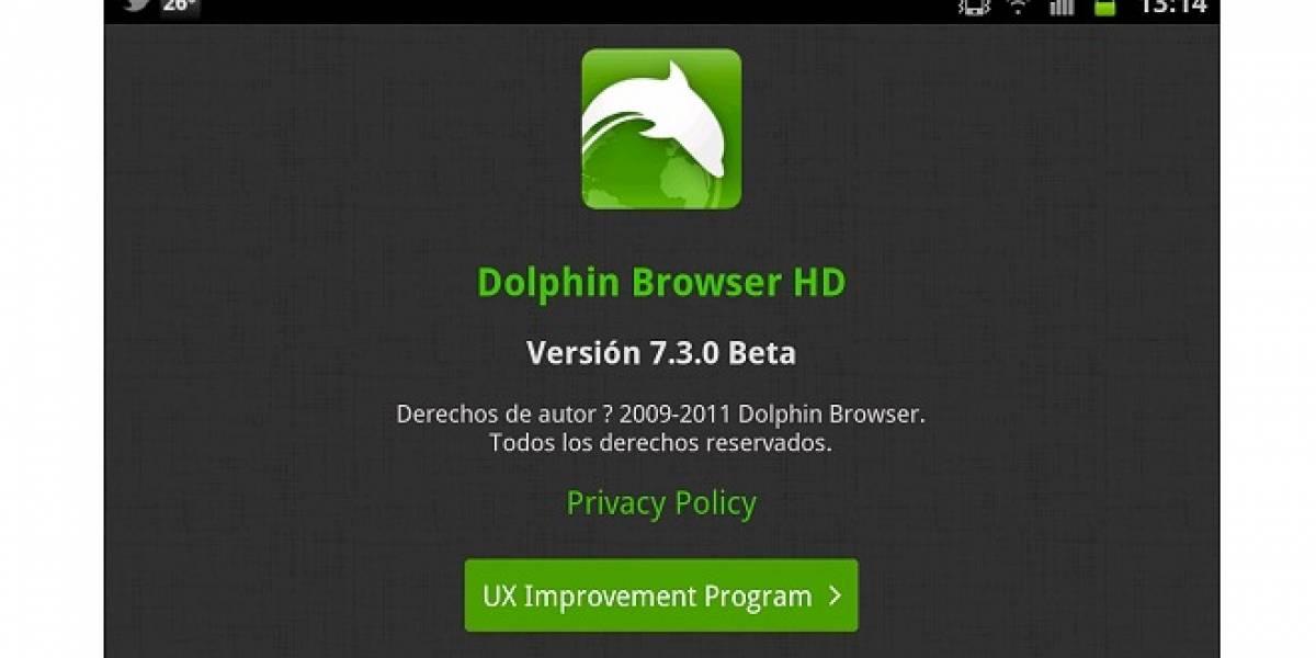 Dolphin Browser 7.3 Beta ya disponible para Android