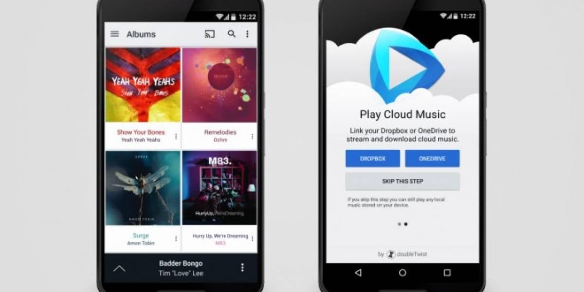 CloudPlayer reproduce tu música de Dropbox, Google Drive y OneDrive