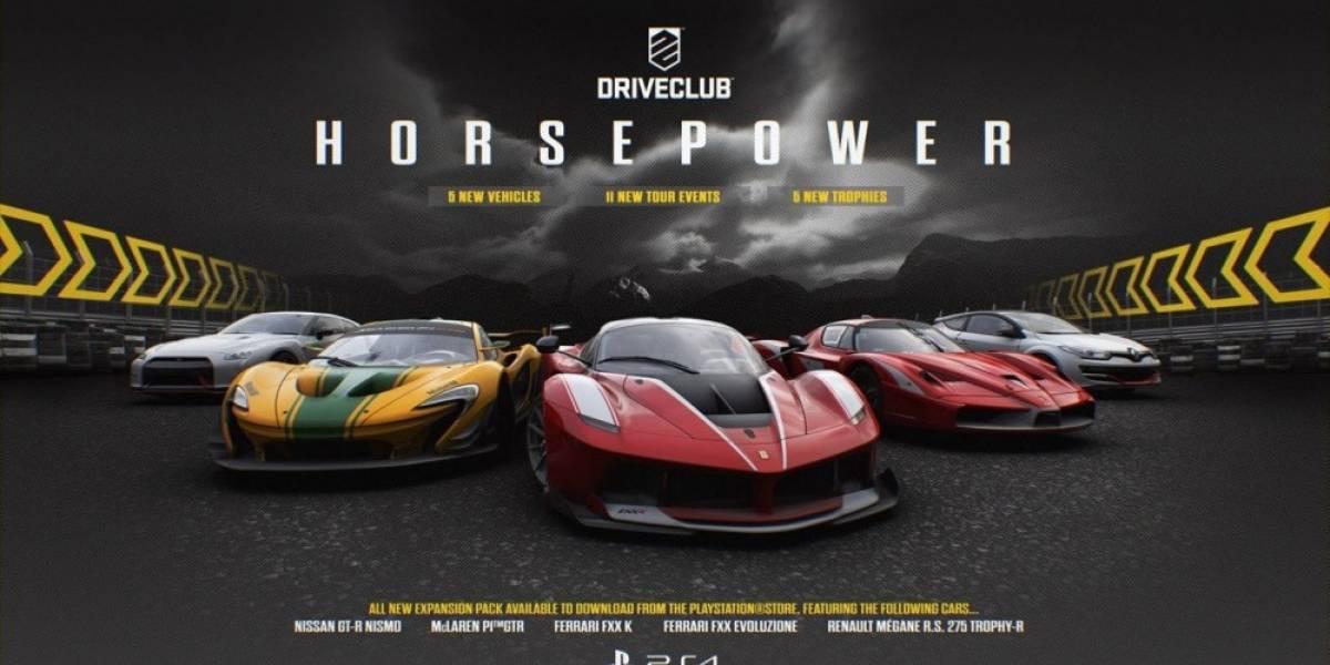 Driveclub recibirá la nueva expansión Horsepower con cinco potentes autos
