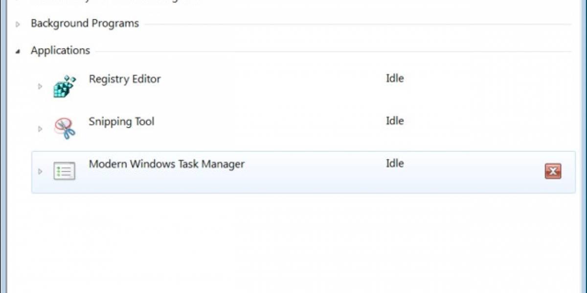 Imagen muestra el nuevo Administrador de Tareas de Windows 8