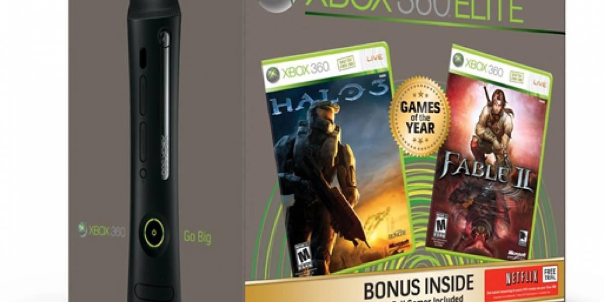Halo 3 y Fable 2 vendran incluidos en  Xbox 360 Elite