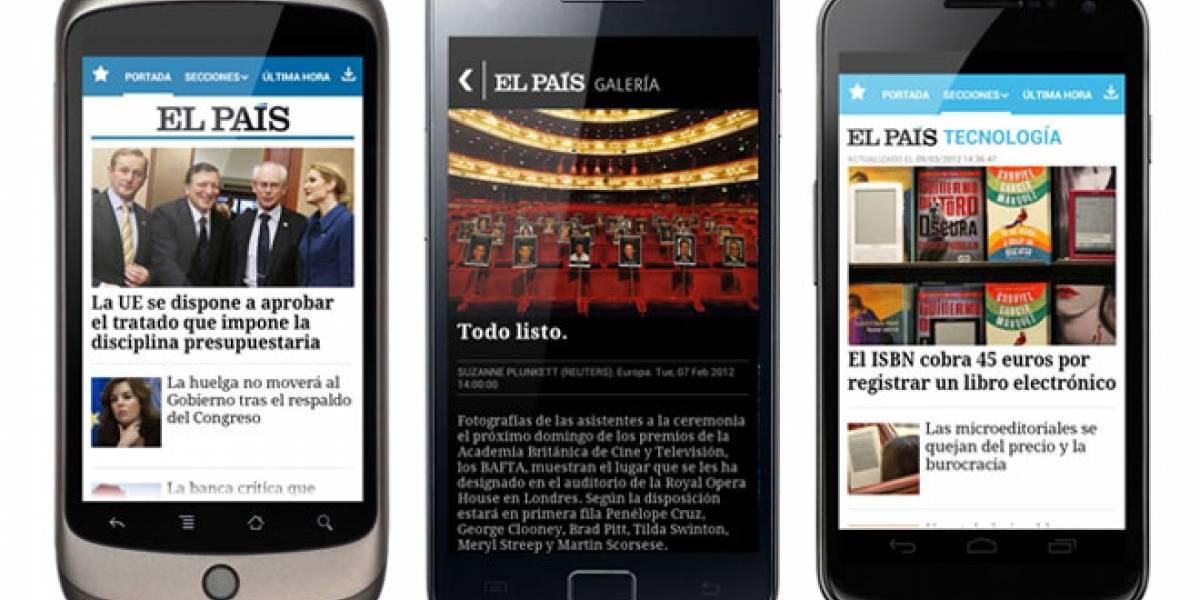 Diario español 'El País' tiene aplicación Android